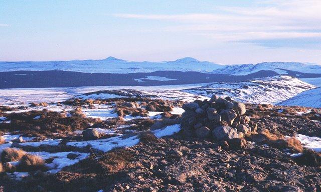 Summit of Meall nan Clach Ruadha
