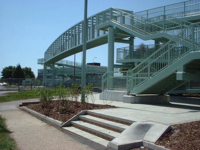 Footbridge at Boundstone College