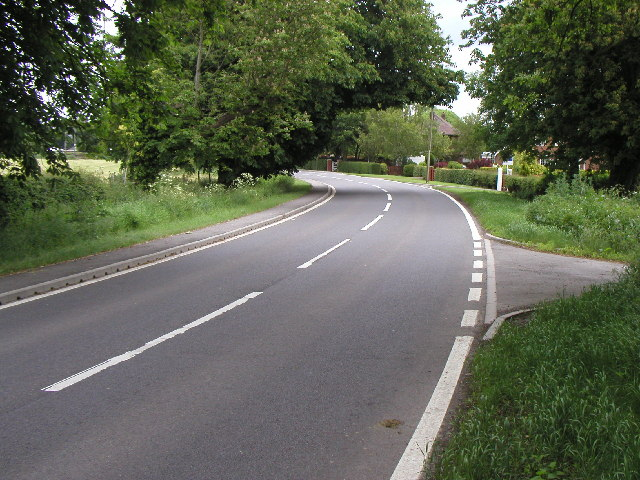 The road into the hamlet of Wyton