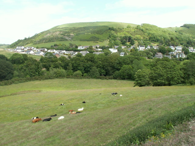 Field and housing, Llanfarian