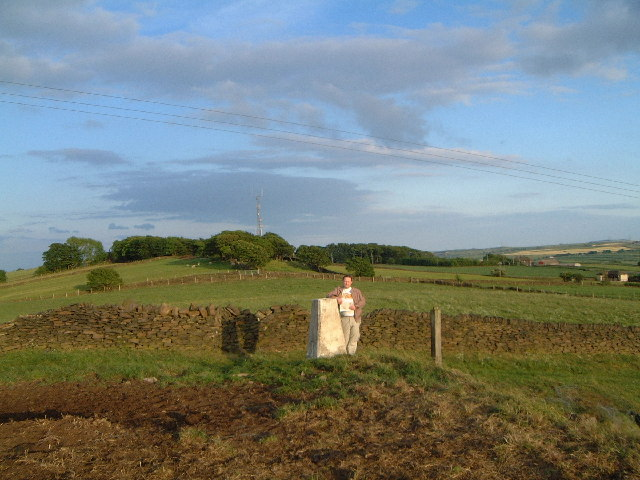 Trig point at Hunger Hill near Hoylandswaine
