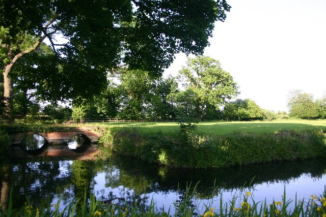 Moats of former Little Saxham Hall
