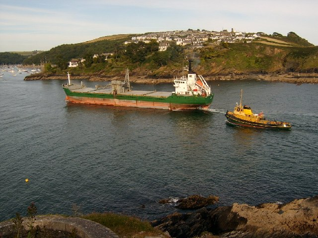 Looking across to Polruan from St Catherines Point