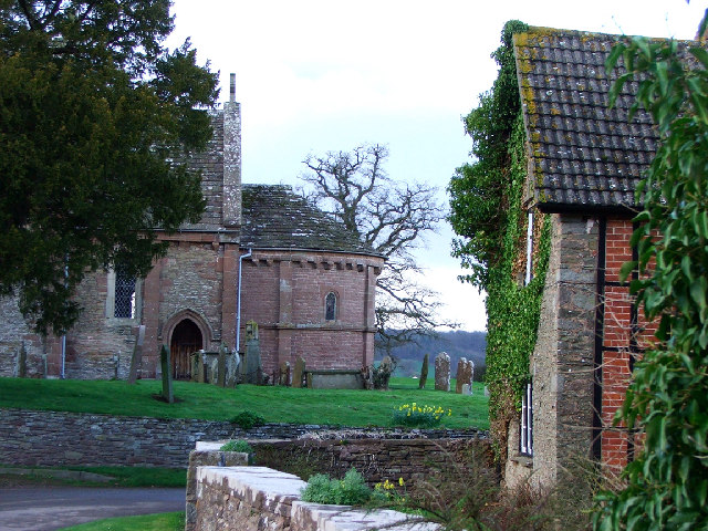 Kilpeck village cottage and church