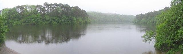 Lower Lliedi reservoir, Swiss Valley, Llanelli