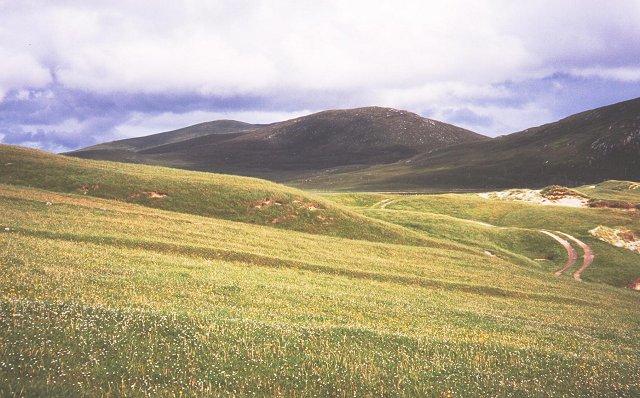Machair above Traigh na Cleabhaig.