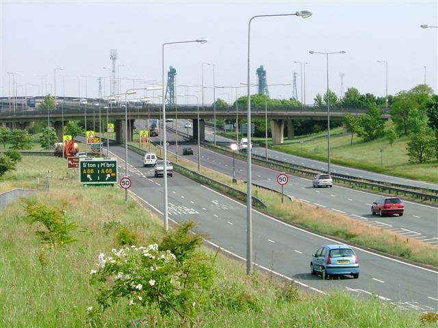 Major Interchange between the A66 and the A19