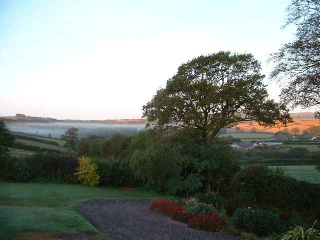 Dawn towards Dartmoor