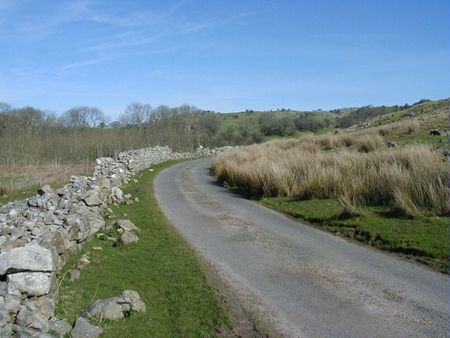 Country Road and Dry Stone Wall
