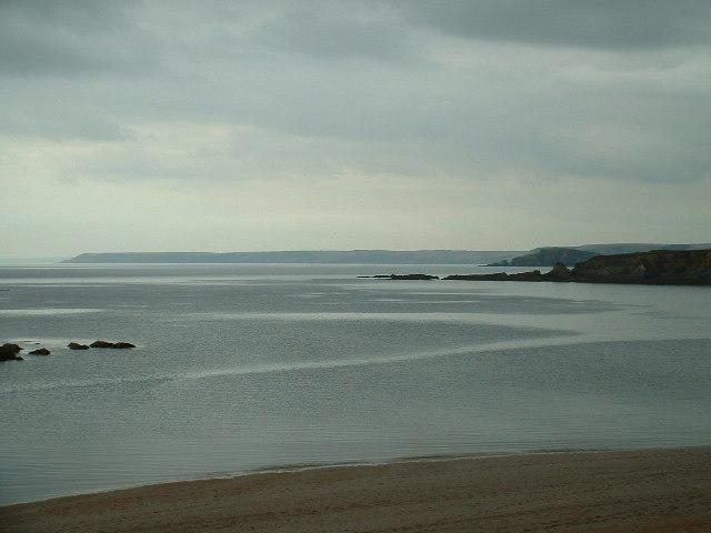 Westwards from Leasfoot beach Thurlestone