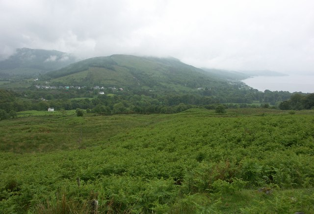 View over Strachur village