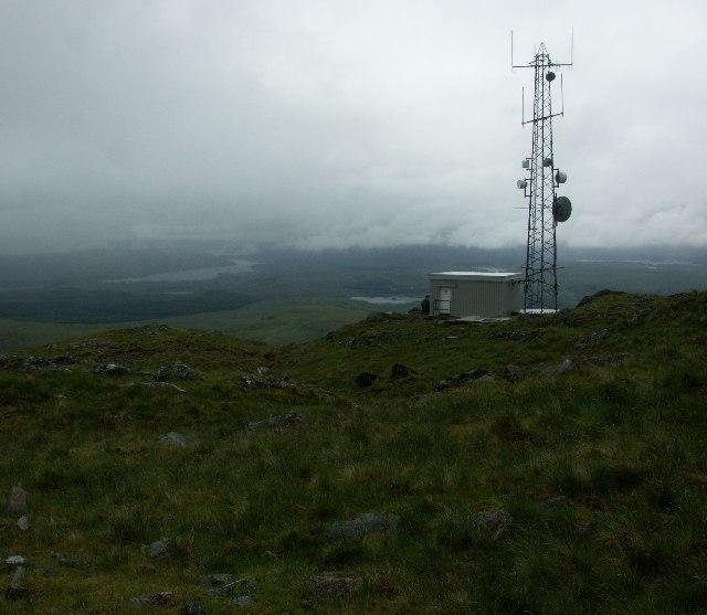 Radio station above the Pass of Brander