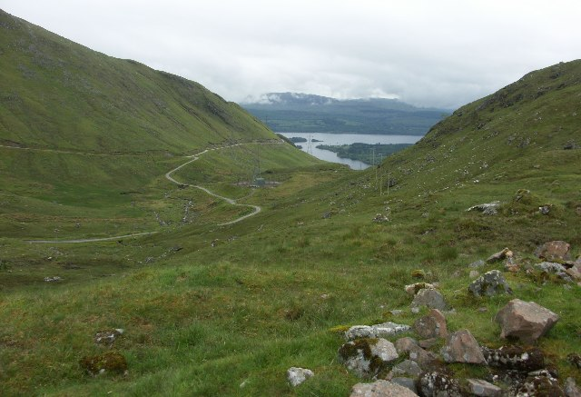Valley below Cruachan Dam