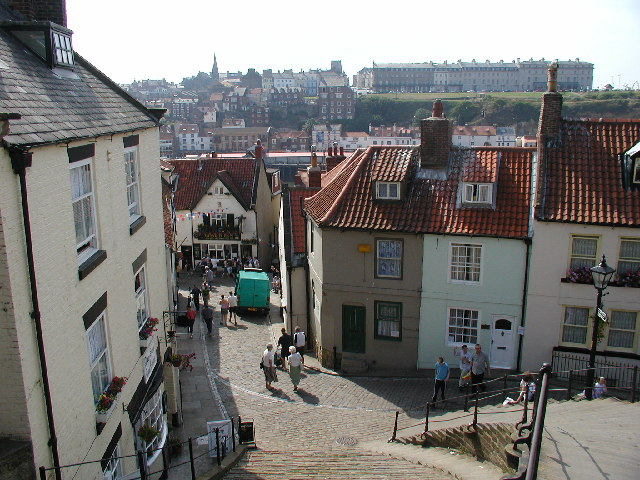 Whitby: steps below the Abbey