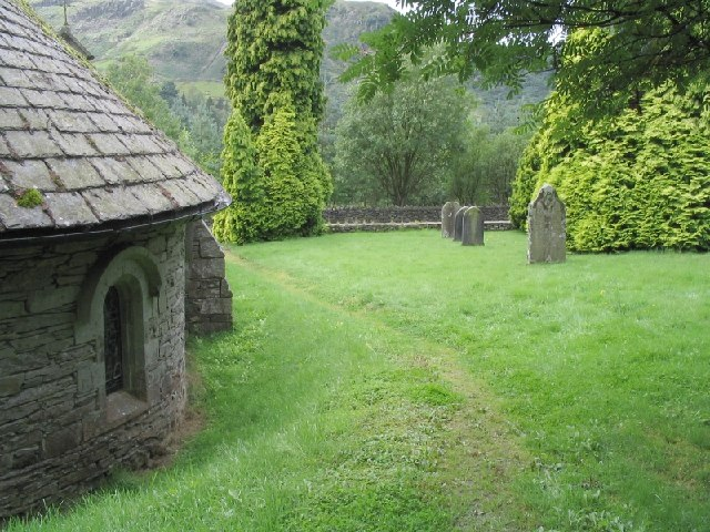 Wythburn Church on Thirlmere, Lake District