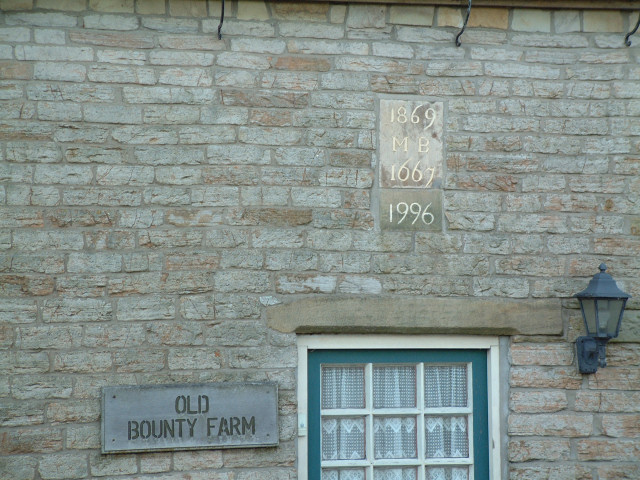 Date stone on Old Bounty Farmhouse