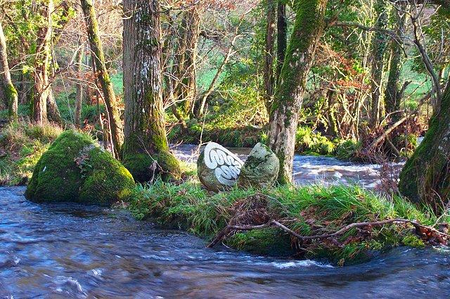 Sculpture on River Teign
