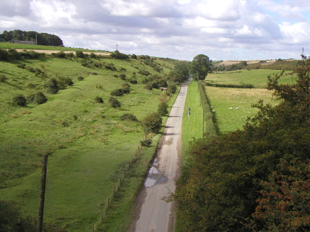 The view from the top of the old railway bridge at Kipling Cotes Station