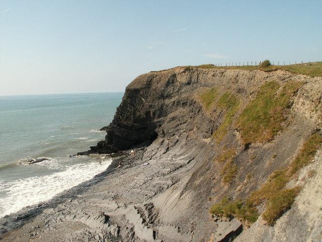 Cliffs, Clarach Bay