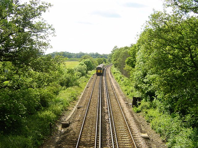 Ashford to Maidstone railway by Snarkhurst Wood