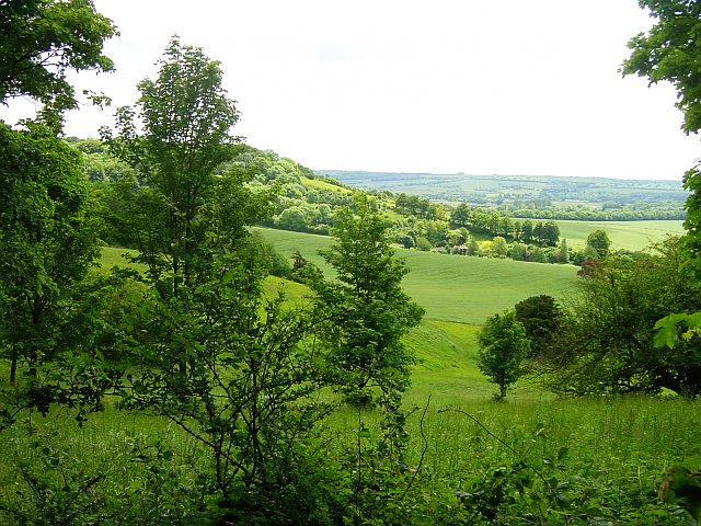 Looking south to Frogshole near Hollingbourne