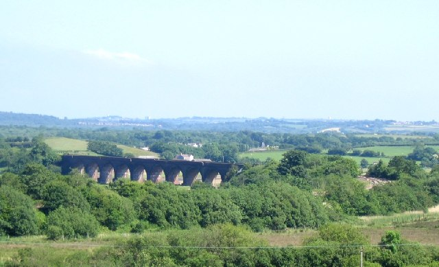 Rail viaduct over River Loughor, near Hendy