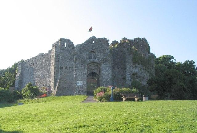 Oystermouth Castle near Mumbles, Swansea Bay