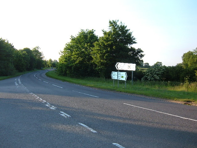 Junction of Court Lane and A5199