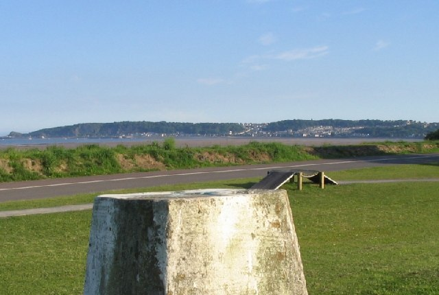 Trig point on Swansea Bay