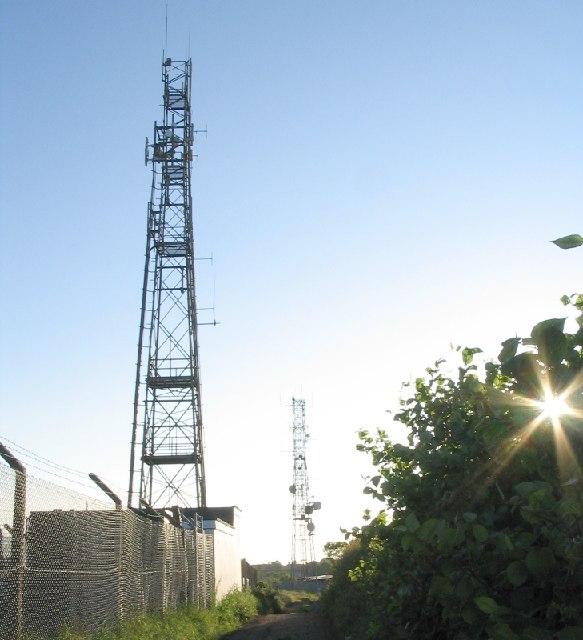 Transmitters near Cefn Coed