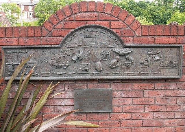 Strand Road East Works Commemorative Plaque