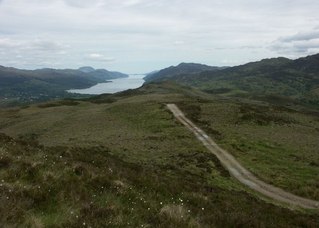 View North East over Loch Ness from Meall a' Cholumain