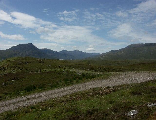 View towards Loch Cluanie from Ceannacroc