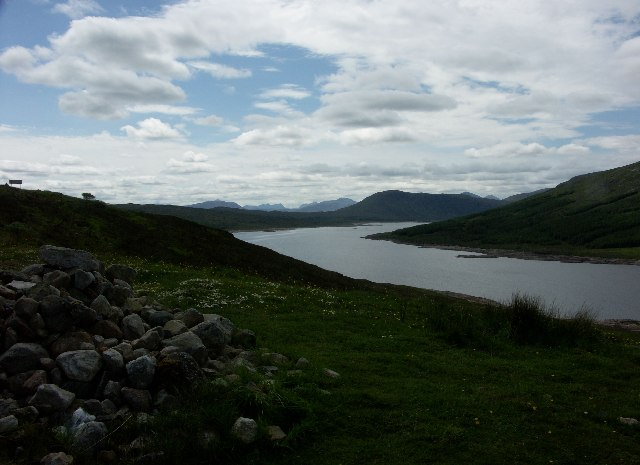 View West down Loch Loyne