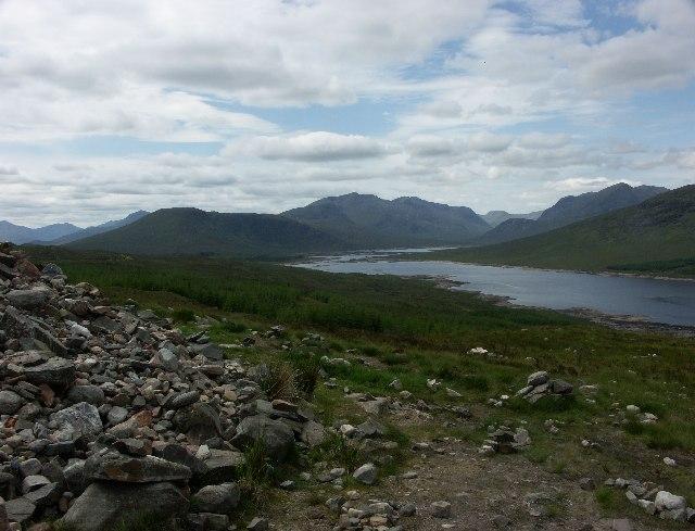 View West down Loch Loyne