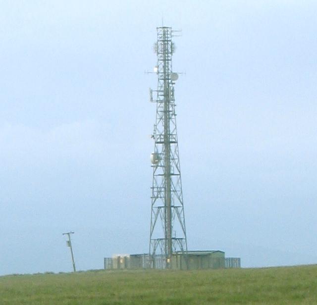 Mast on Betws Mountain