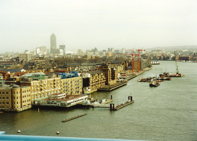 Thames east from upper crossway of Tower Bridge