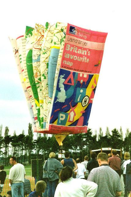 Newark Balloon Fest. Landranger map