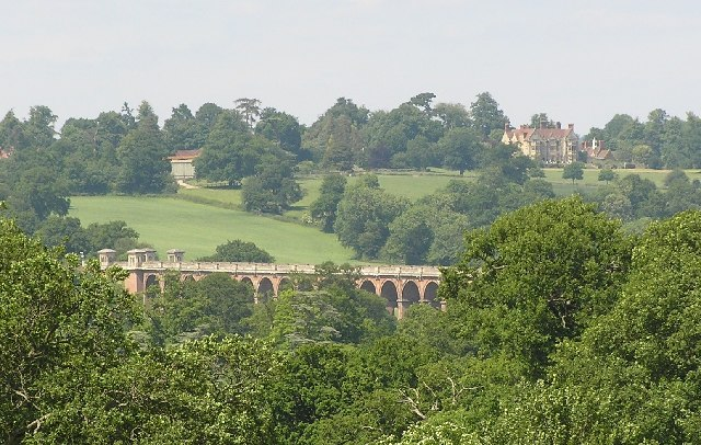 View of  Ouse Valley Viaduct and Stone Hall from Borde Hill