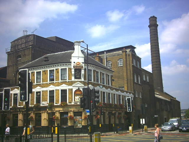 Young's brewery, Wandsworth, by day.