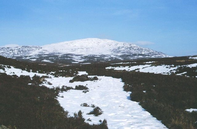 Beinn Bhuirich from the Tarvie Burn.