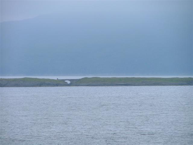 Bridge between the two high points of Eilean Musdile