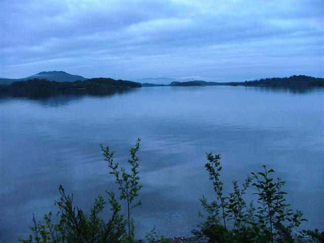 View Across Loch Lomond Looking Towards the Islands  of Inchlonaig and Inchconnachan