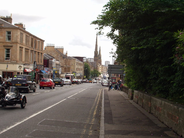 View down Great Western Road