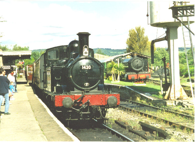 Buckfastleigh station and locos
