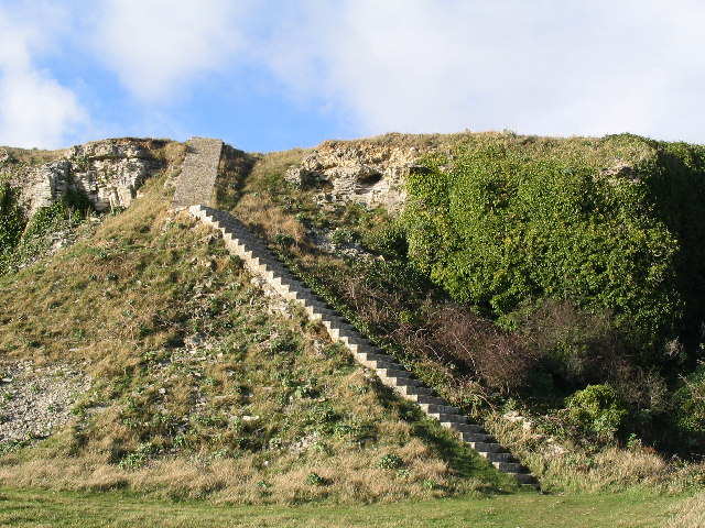 Concrete Staircase, Disused Quarry, St Albans Head, Dorset