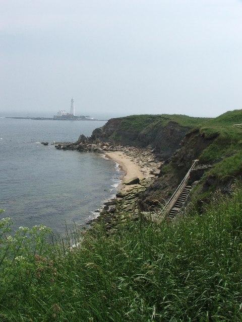 Coastal cliffs at Old Hartley