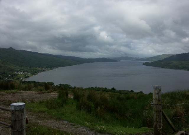 Another view down Loch Fyne from hill above Strachur but in slightly better weather.