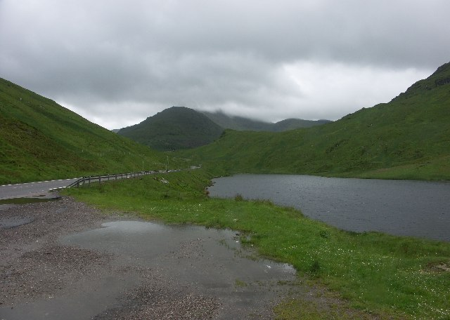 View South from A83 alongside Loch Restil