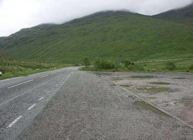 View East along the A83 in Glen Kinglas